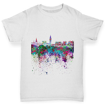 London Skyline Ink Splats Girl's T-Shirt