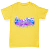 New York Skyline Ink Splats Boy's T-Shirt