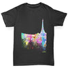 Paris Skyline Ink Splats Boy's T-Shirt