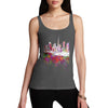 Dubai Skyline Ink Splats Women's Tank Top