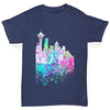 Seattle Skyline Ink Splats Boy's T-Shirt