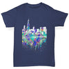 Chicago Skyline Ink Splats Boy's T-Shirt