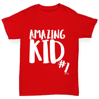 Amazing Kid Number 1 Girl's T-Shirt