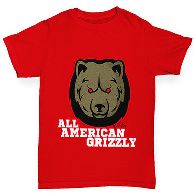 All American Grizzly Boy's T-Shirt