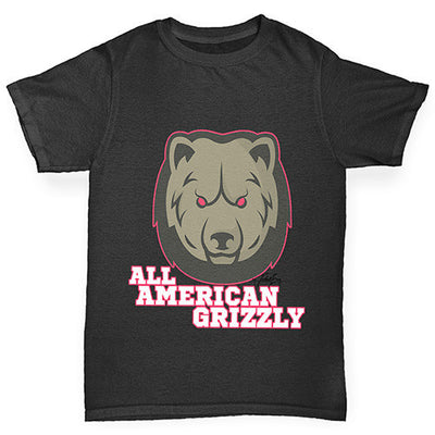 All American Grizzly Girl's T-Shirt