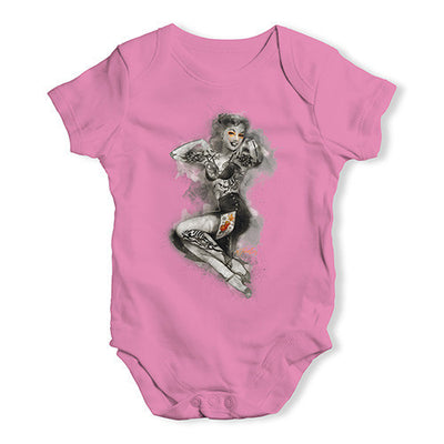 Tattooed Pin Up Lady Baby Unisex Baby Grow Bodysuit