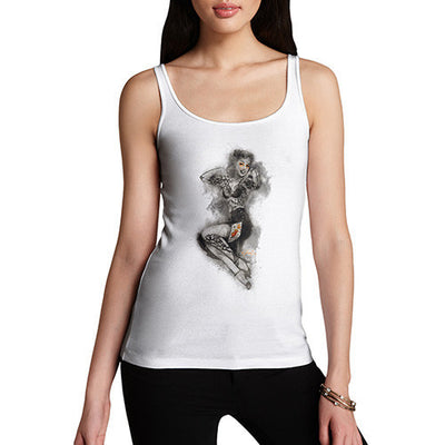 Tattooed Pin Up Lady Women's Tank Top