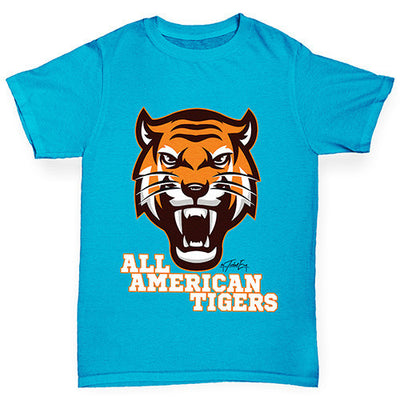 All American Tiger Boy's T-Shirt