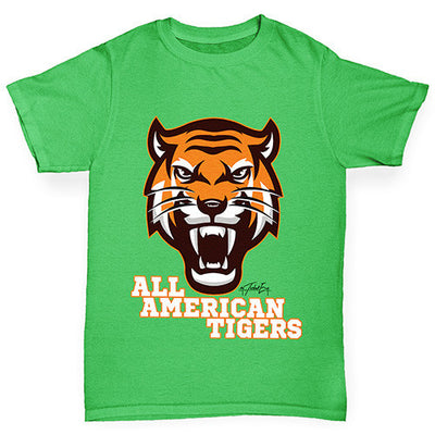 All American Tiger Girl's T-Shirt