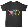 I Heart Dad Finger Paints Boy's T-Shirt