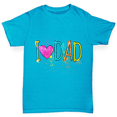 I Heart Dad Finger Paints Girl's T-Shirt