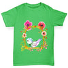 Watercolour Bird Flowers Girl's T-Shirt
