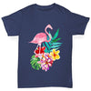 Watercolour Flamingo Flowers  Boy's T-Shirt
