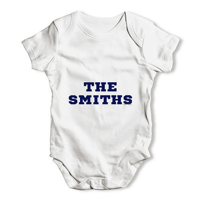 Personalised Surname Family Name Baby Unisex Baby Grow Bodysuit