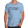 Personalised Hey Hungry I'm Dad Men's T-Shirt