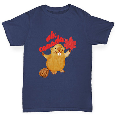 Oh Canada Beaver Boy's T-Shirt