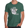 Funny T-Shirts For Men Sarcasm Silver Fox Men's T-Shirt Small Bottle Green