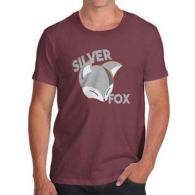 Funny T-Shirts For Men Sarcasm Silver Fox Men's T-Shirt Large Burgundy