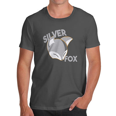 Funny Gifts For Men Silver Fox Men's T-Shirt Small Dark Grey