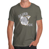 Funny T Shirts For Dad Silver Fox Men's T-Shirt Large Khaki
