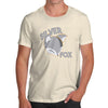 Funny Gifts For Men Silver Fox Men's T-Shirt Large Natural