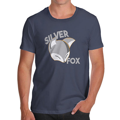 T-Shirt Funny Geek Nerd Hilarious Joke Silver Fox Men's T-Shirt Small Navy