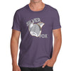 Novelty T Shirts Silver Fox Men's T-Shirt Large Plum