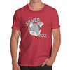 Novelty T Shirt Christmas Silver Fox Men's T-Shirt Large Red