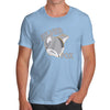 Novelty T Shirts Silver Fox Men's T-Shirt Medium Sky Blue