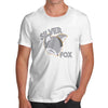 Funny T Shirts Silver Fox Men's T-Shirt Medium White
