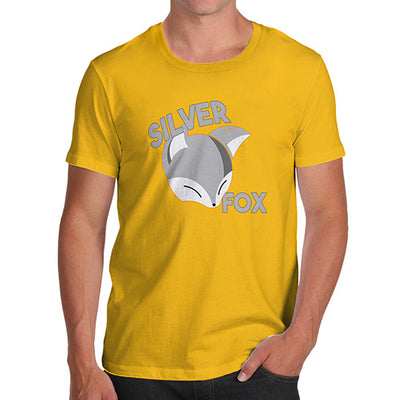 Funny Tee Shirts For Men Silver Fox Men's T-Shirt Small Yellow