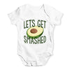 Let's Get Smashed Avocado Baby Unisex Baby Grow Bodysuit