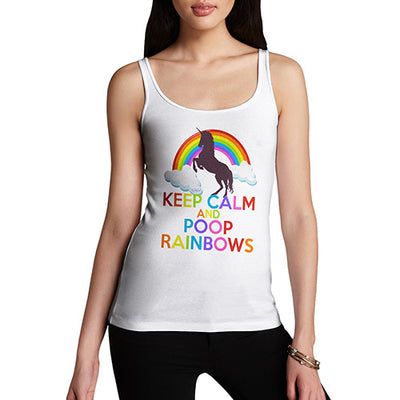 Keep Calm And Poop Rainbows Women's Tank Top