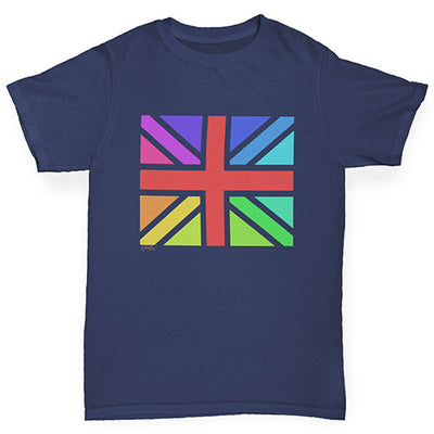 Rainbow Union Jack Boy's T-Shirt