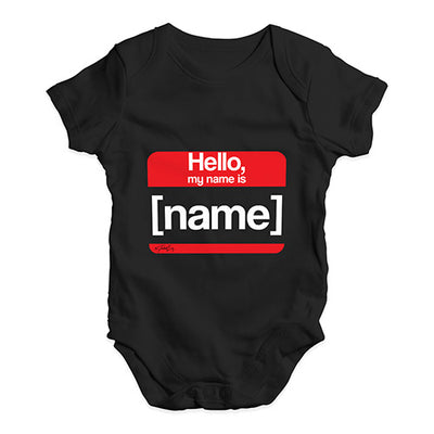 Personalised My Name Is Baby Unisex Baby Grow Bodysuit