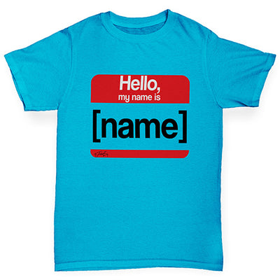 Personalised My Name Is Boy's T-Shirt