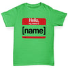 Personalised My Name Is Girl's T-Shirt