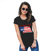 Greetings From Nebraska USA Flag Women's T-Shirt