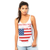 Greetings From Ohio USA Flag Women's Flowy Side Slit Tank