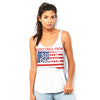 Greetings From South Dakota USA Flag Women's Flowy Side Slit Tank