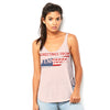 Greetings From Tennessee USA Flag Women's Flowy Side Slit Tank