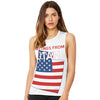 Greetings From Utah USA Flag Women's Flowy Scoop Muscle Tank
