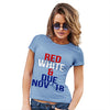Red, White & Due Personalised Women's T-Shirt
