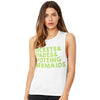 Buckets Spades Spotting Mermaids Women's Flowy Scoop Muscle Tank