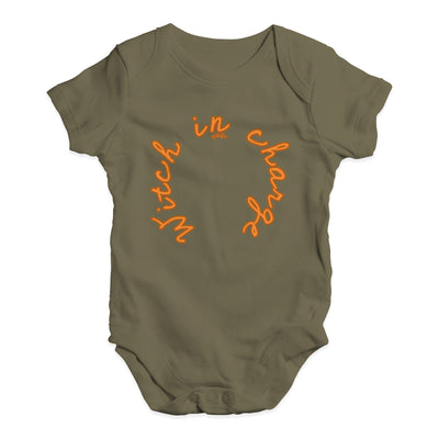 Witch In Charge Baby Unisex Baby Grow Bodysuit
