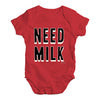 Need Milk Baby Unisex Baby Grow Bodysuit