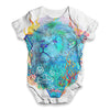 Vintage Lions Head Baby Unisex ALL-OVER PRINT Baby Grow Bodysuit
