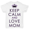 Keep Calm And Love Mom Baby Toddler ALL-OVER PRINT Baby T-shirt