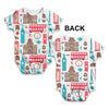 London Pattern Baby Unisex ALL-OVER PRINT Baby Grow Bodysuit