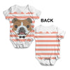 Bulldog With Tie Baby Unisex ALL-OVER PRINT Baby Grow Bodysuit